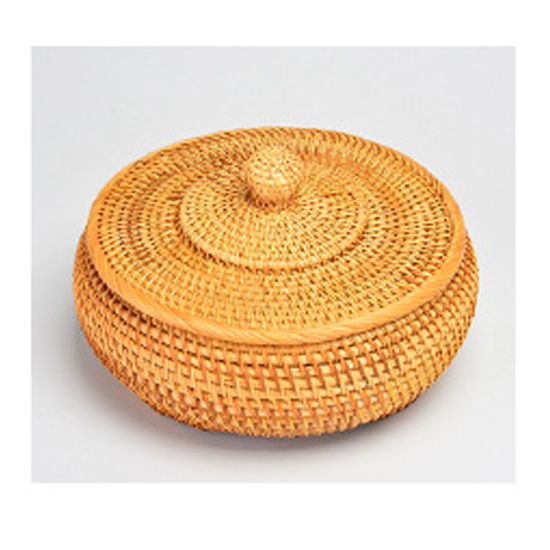 Handmade Woven Weaving Round Wicker