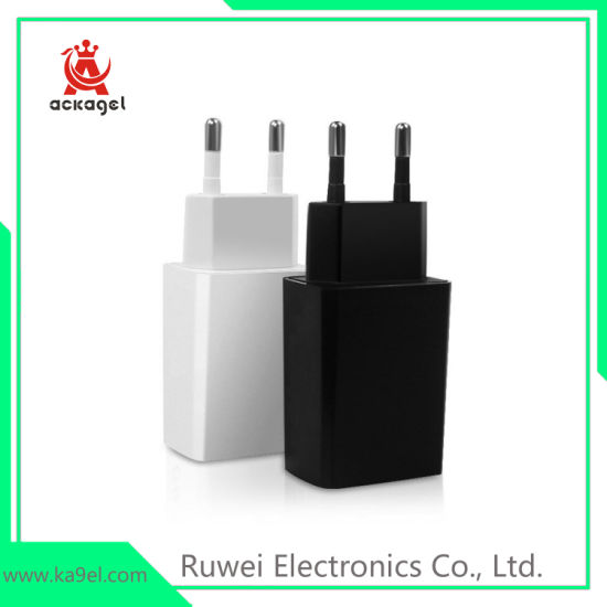 EU Standard Mobile Phone Accessories USB Charger Ce FCC RoHS