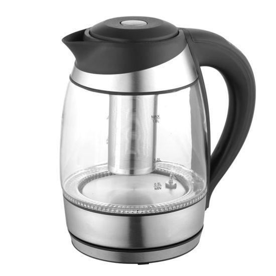 1.8 Liter Keep Warm Glass Kettle with Tea Filter