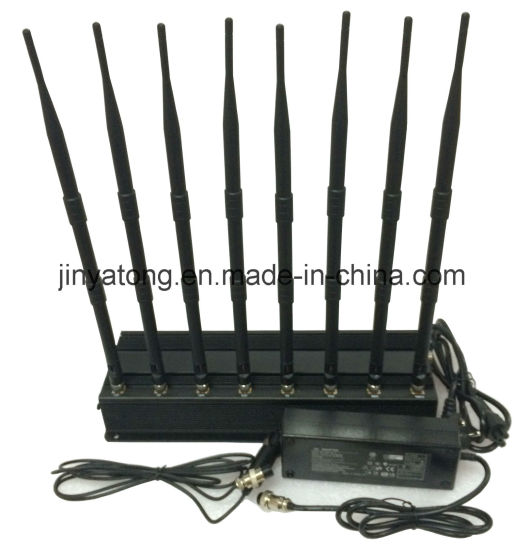 8 Antennas High Power GPS/ WiFi/ VHF/ UHF Cell Phone Jammer pictures & photos