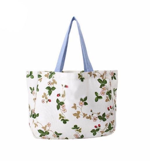 Floral Canvas Beach Bag for Ladies Tote Handbags