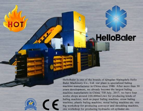 Waste automatic baler for baling packaging strapping waste paper pulp cardboard carton plastic scrpas hay grass straw metal tyre recycling