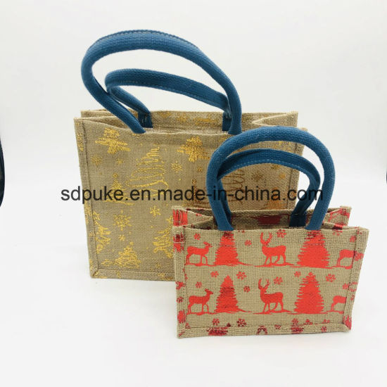 Wholesale High Quality Jute Burlap Shopping Bag, Jute Fabric Products pictures & photos