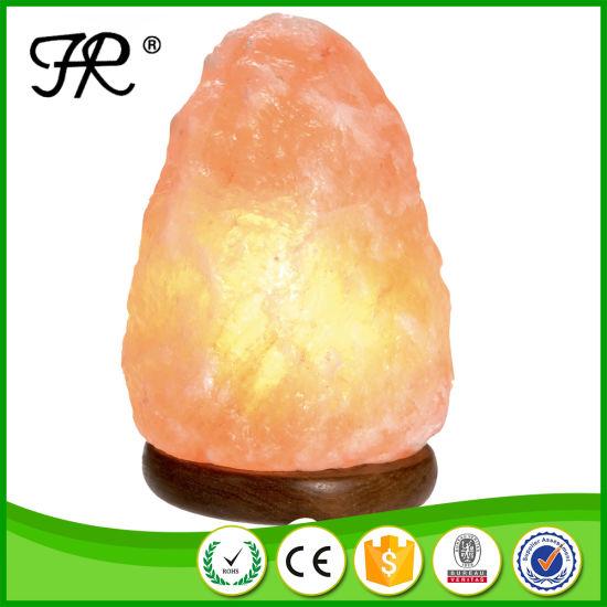 Natural Himalayan Salt Lamp, Salt Rock Lamp With Halogen Bulbs