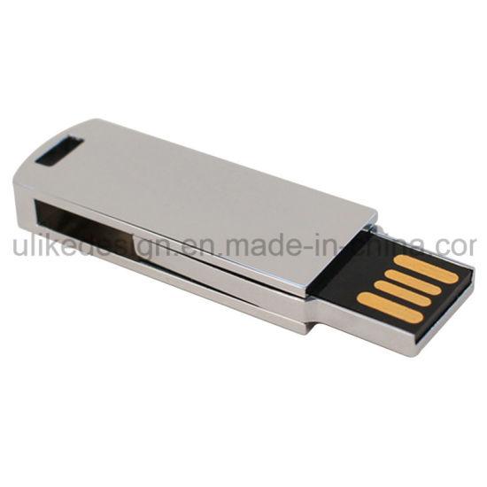 Costomized Logo Twist USB Pen Drive Swivel USB Flash Drive Metal Material USB Disk