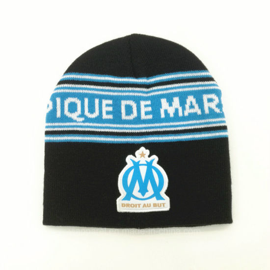 1524720fac1dd Manufacturers OEM Custom 100% Acrylic No POM Winter Hat Embroidery Logo  Jacquard Knit Beanie