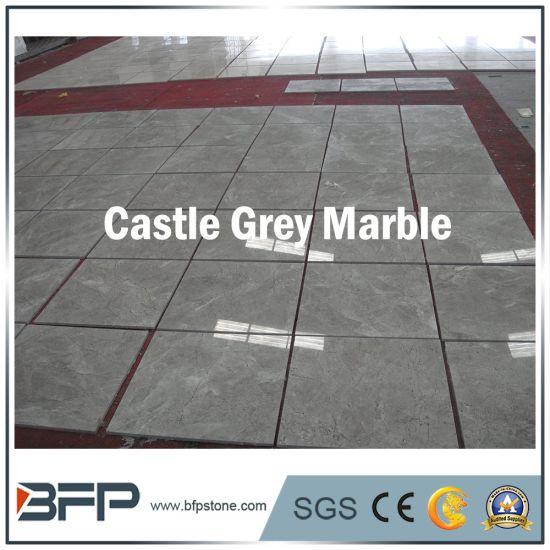 2017 hot sale castle grey marble slabs for villa decoration
