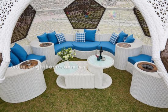 Removable Outdoor PE Rattan Wicker Football Tent Easy to Assemble pictures & photos