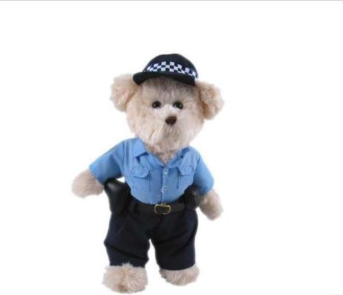 Policeman Bear Stuffed Plush Toy