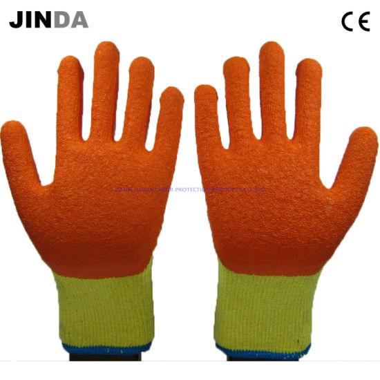 Safety Products Latex Crinkle Coated Labor Protective En388 Construction Mechanical Safety Work Gloves