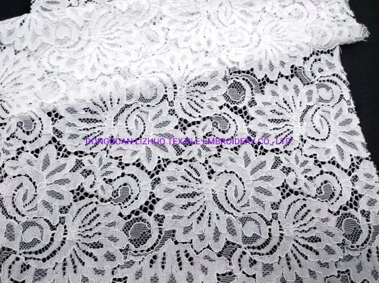 Lace Fabric Products Bridal Design Lace of Garment Fabric for Garment Accessorise Dress Cord Eyelash pictures & photos