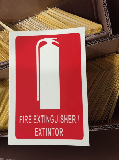 PVC Fire Extinguisher Sign pictures & photos