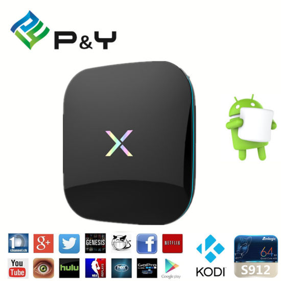 China 2016 X Player Amlogic S912 Octa Core Root Dolby