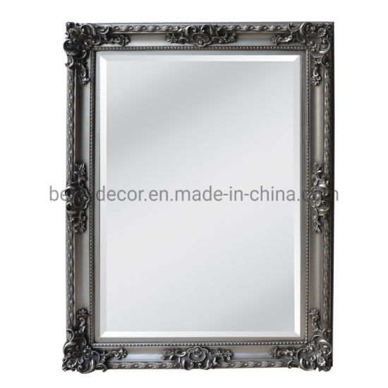 Hot Sale Decorative Hanging Wall Frame Mirror with Bevel Edge