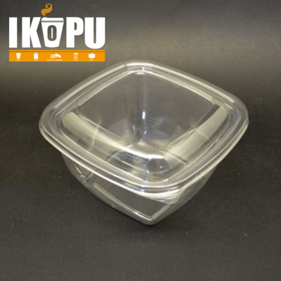 Wholesale Plastic Containers Large Transparent Salad Bowl Plastic pictures & photos