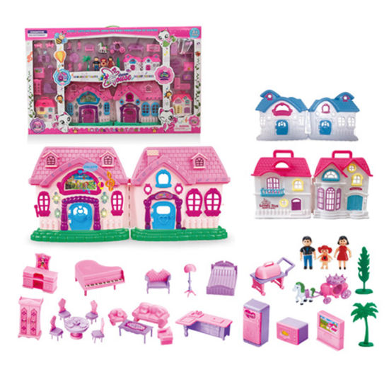 Battery Operated Toy Villa Doll House with Light & Music (H7849165) pictures & photos