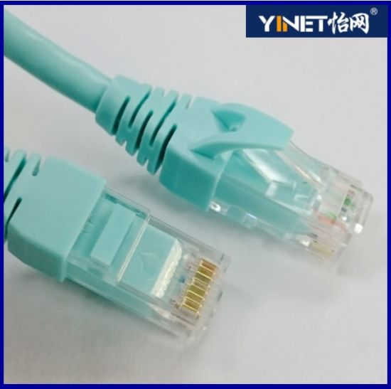 CAT6 Ethernet Patch Cable, Gold Plated Male to Male, 3 FT Green pictures & photos