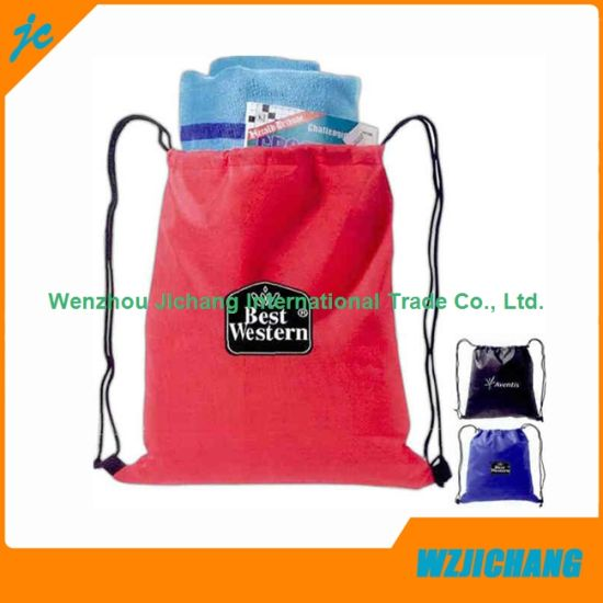 118bf0fb6bc1 China Customer Design Plain Color Non Woven Drawstring Bag - China ...