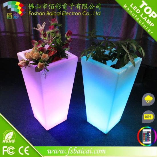 Tall LED Flower Pot, LED Nursery, Large Big PE Plant Pot