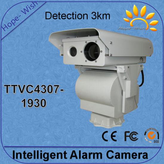 Thermal Uncooled Waterproof IP66 PTZ IP IR Network Camera 17km