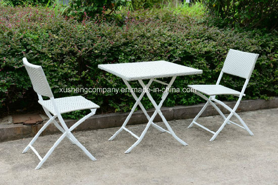3 PCS of Steel Rattan Table+ Chair Set pictures & photos