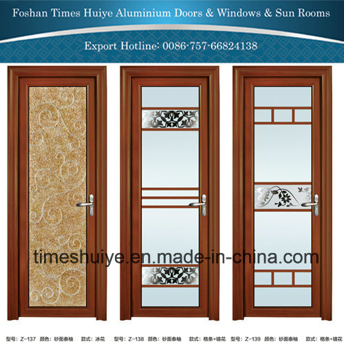 China New Fashion Aluminum Glass Door With Toughened Tempered