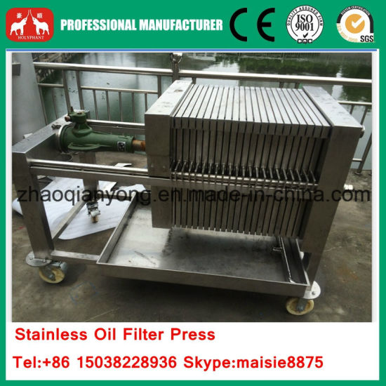 Stainless Hydraulic Plate and Frame Coconut Oil Filter Press Machine pictures & photos
