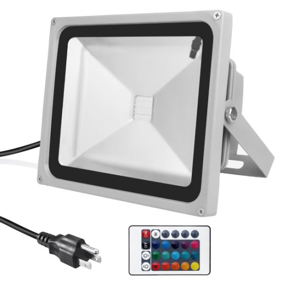 100W Outdoor RGB LED Floodlight with Color Changing Waterproof Security Lights pictures & photos