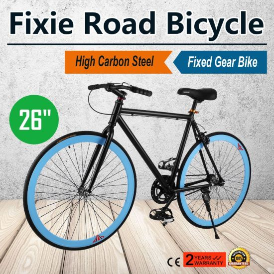 "26"" Zoll Single Speed Fixie Fahrrad Bike Fixed Gear Rennrad Fitness Bike pictures & photos"