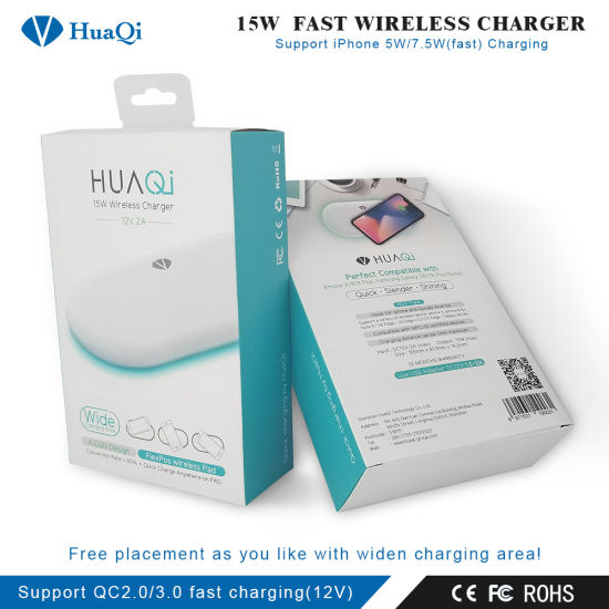China Best 15W Qi Wireless Charger (4 Coils Design) Perfect