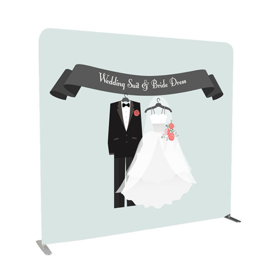 Wedding Cloth Promotional Stand Wall Backdrop Banner