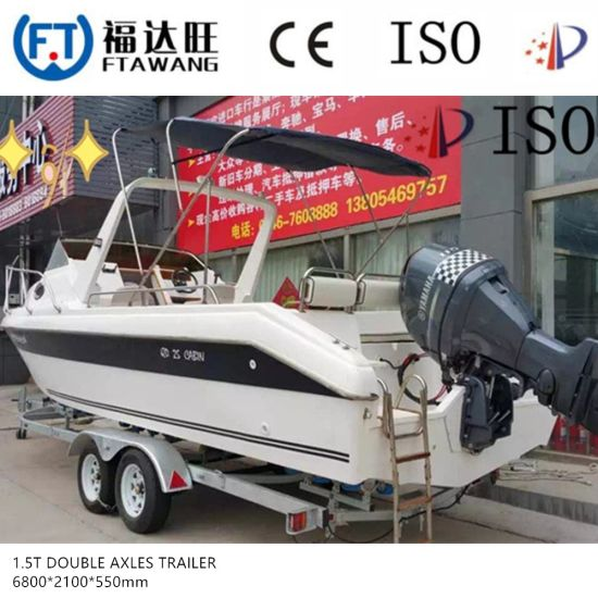 Galvanized Sigle Axle Yacht Trailer with LED Tail Light