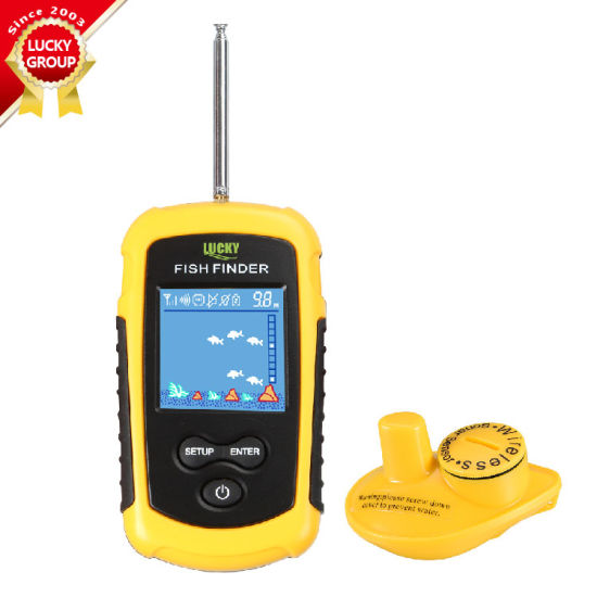 Ffcw-1108-1 Lucky Wireless Fish Finder Sonar, Tn/ Anti-UV LCD Display Fishfinder