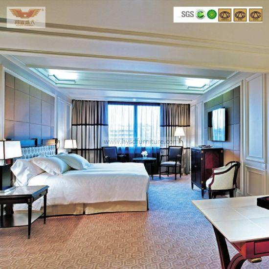 High Quality Wooden Furniture 5 Stars Hotel Bedroom Furniture Set (HY-028)