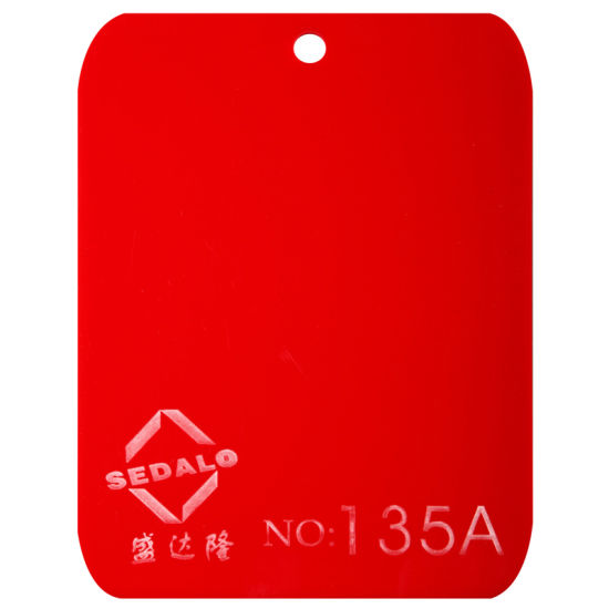 Good Quality of Virgin Red Cast Acrylic Sheet (SDL-135A)