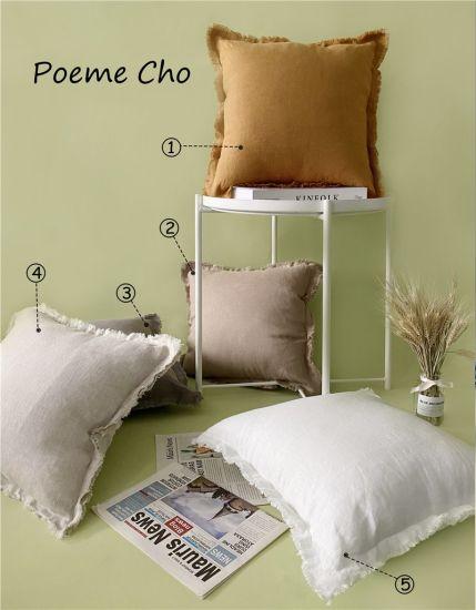 Sandwashed Linen Sofa Cushions / Color Home Decorative Cushions