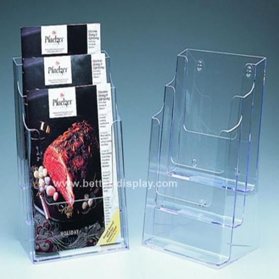 Acrylic Table Top Advertising Brochure Holder (BTR-H6015)
