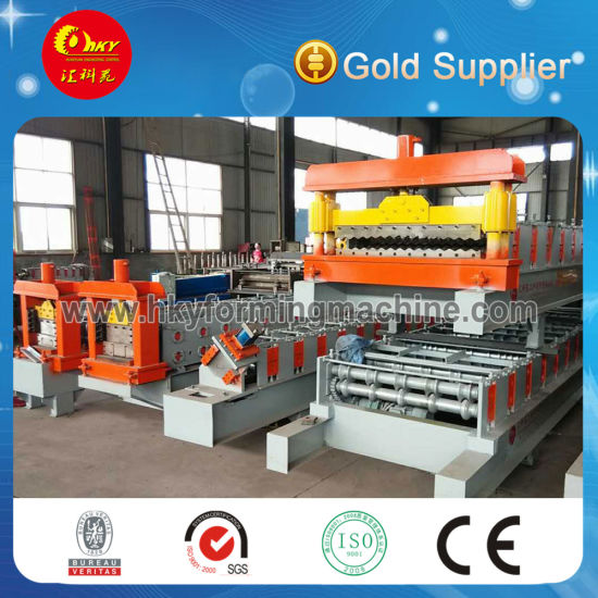 Color Steel Single Skin Profile Roofing Sheets Roll Forming Machine for Building Material pictures & photos