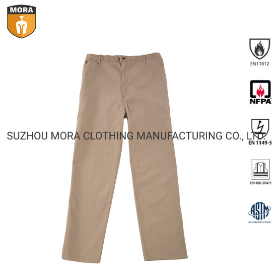 Nfpa 2112 Fr Clothing 100% Fr Cotton Safety Pants Insect Repellent Pants Flame Resistant Duck Work Pants Wholesale for Field