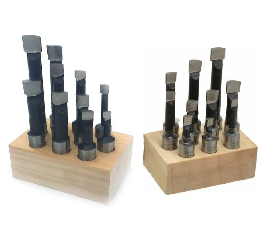 10mm 8PCS/Set Wooden Stand Gobalt HSS Boring Bar