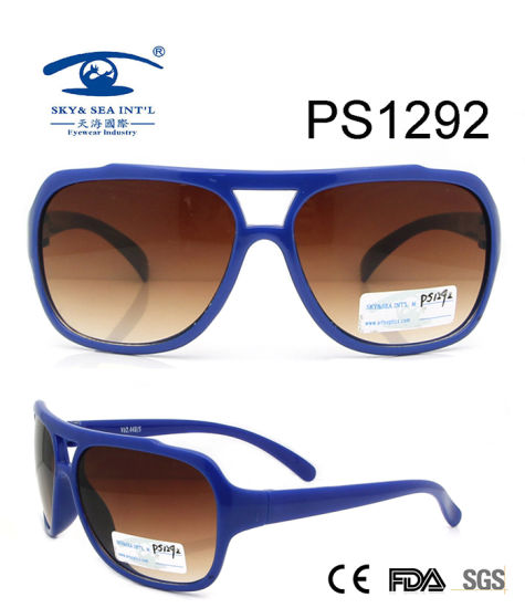 3c2f4ee8c783 China Blue Color Full Rim Colorful Kid Plastic Sunglasses (PS1292 ...