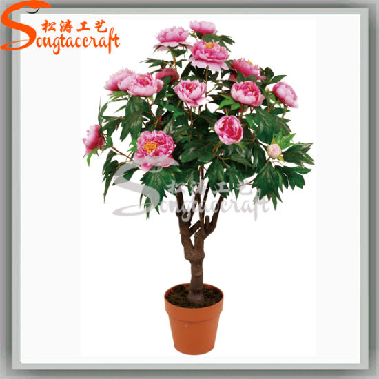 Competitive Price Wholesale Artificial Plant Potted Flower (AF003)