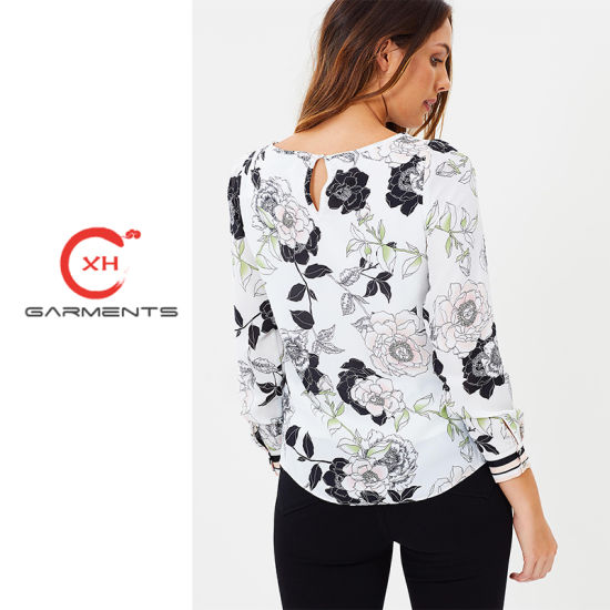 855819b8fce405 China Xh Garments Floral Ladies Fancy Tops - China Ladies Fancy Tops ...