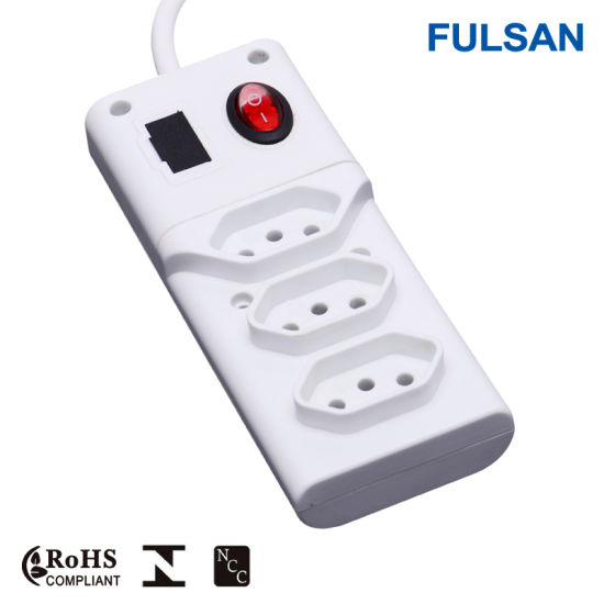 High Quality Fused Extension Power Socket with LED Indicator pictures & photos