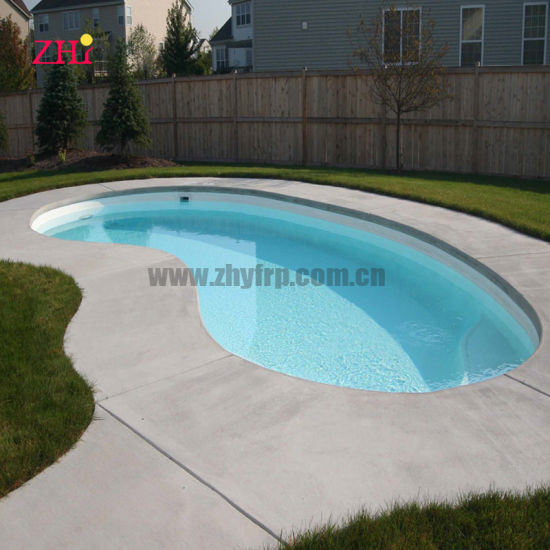 Fiber Glass for Outdoor Swimming Pool L4.8m X W2m X H1.2m