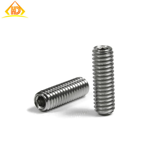 M8-1.25 X 12 Socket Set Screw Flat Point A2 Stainless Steel Package Qty 100