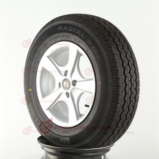 4X100 14inch Complete Wheels with Alloy Rim for Horse Trailer