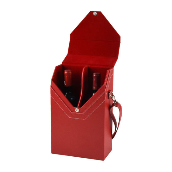 High Quality Multiple Leather Wine Box for 2 Bottles N&R pictures & photos