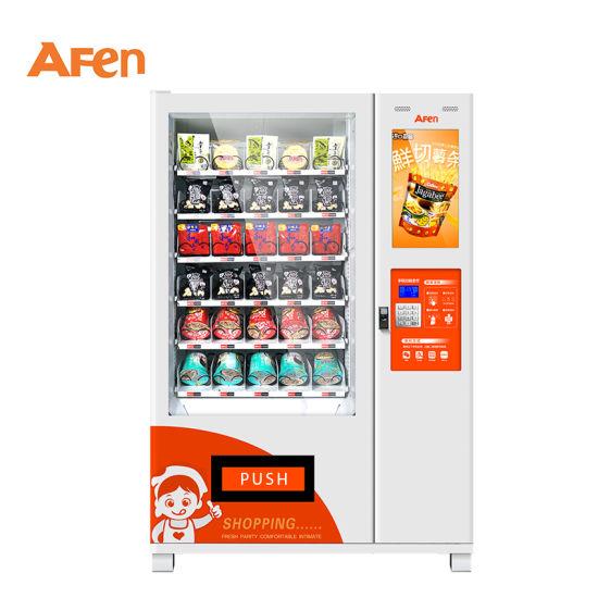 Afen Fast Food Vegetable Salad Fruit Vending Machine with Elevator