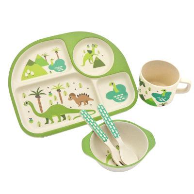 5pcs Cartoon Design Baby Dinnerware